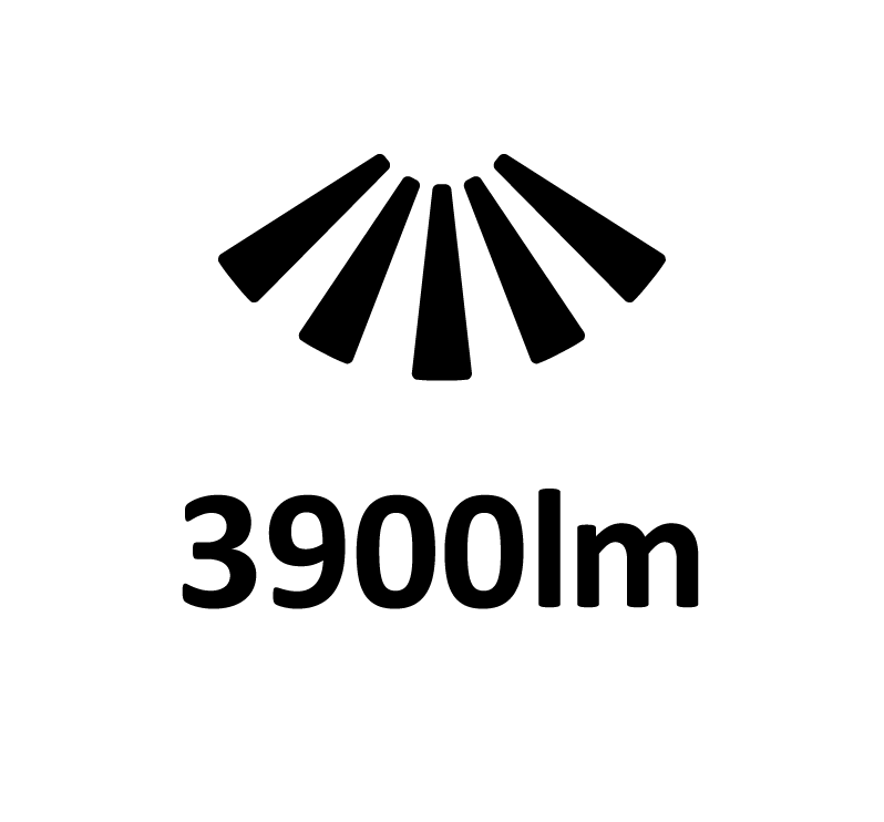 Fluxo Luminoso 3900lm