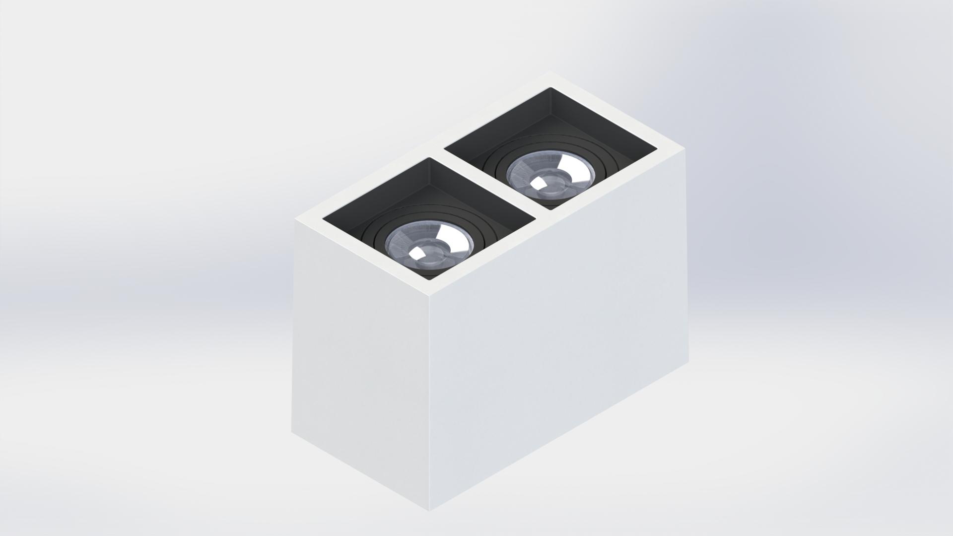 PLAFON BOXIT DUPLO DICROICA MR16