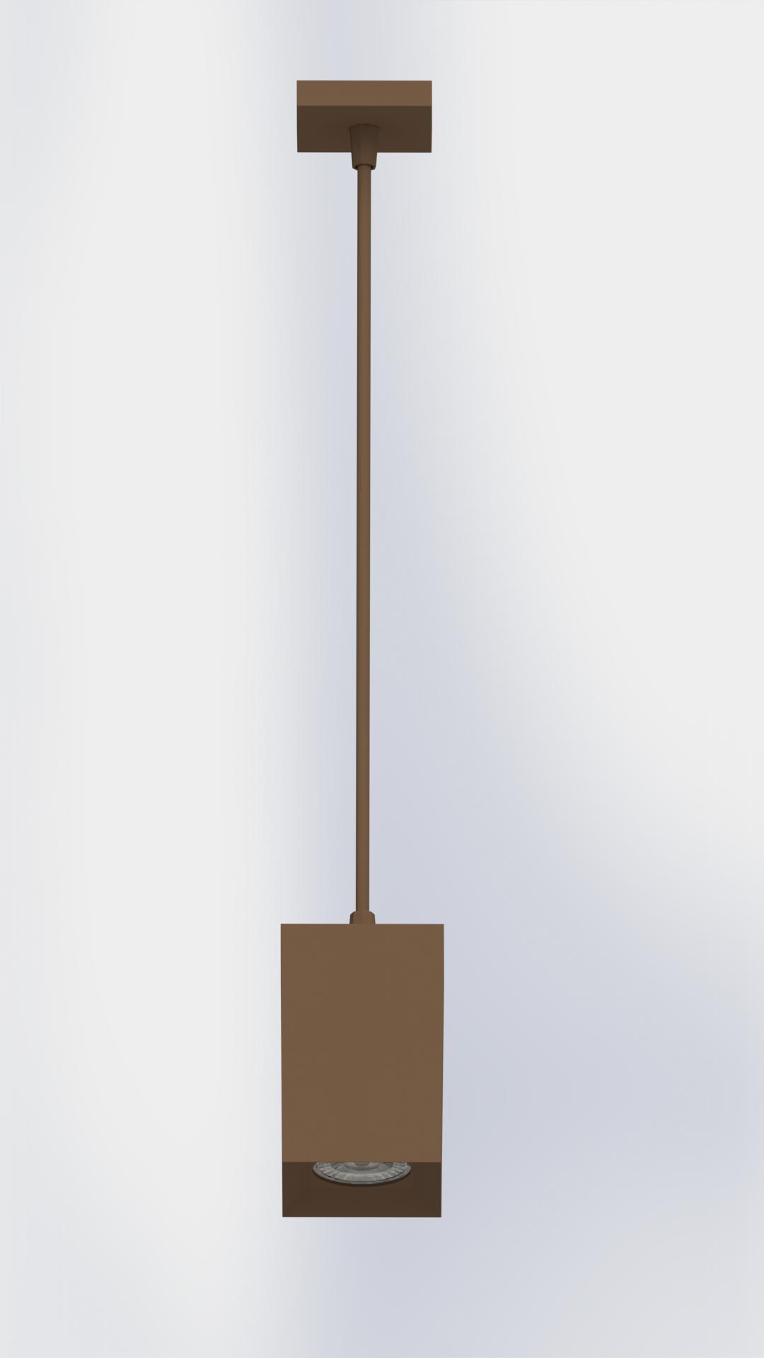 PLAFON TOWER PENDENTE QUADRADO FACE RECUADA
